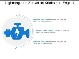 Lightning Icon Shown On Knobs And Engine