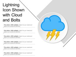 Lightning Icon Shown With Cloud And Bolts