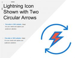 Lightning Icon Shown With Two Circular Arrows