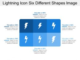 Lightning Icon Six Different Shapes Image