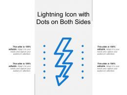 Lightning Icon With Dots On Both Sides