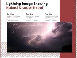 Lightning Image Showing Natural Disaster Threat