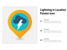 Lightning In Location Pointer Icon