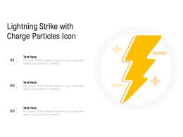 Lightning Strike With Charge Particles Icon