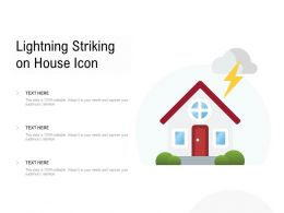 Lightning Striking On House Icon
