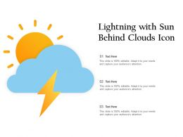 Lightning With Sun Behind Clouds Icon
