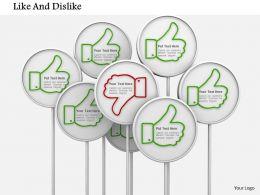 Like And Dislike Social Media Icons