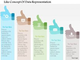 Like Concept Of Data Representation Flat Powerpoint Design