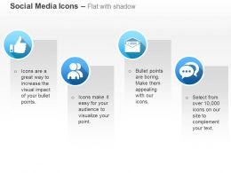 Like Symbol Social Network Mail Message Communication Ppt Icons Graphics