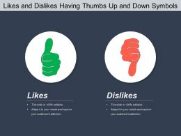 Likes And Dislikes Having Thumbs Up And Down Symbols