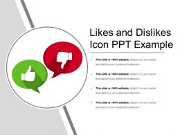 Likes And Dislikes Icon Ppt Example