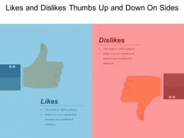 Likes And Dislikes Thumbs Up And Down On Sides