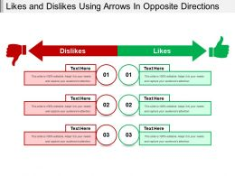 Likes And Dislikes Using Arrows In Opposite Directions
