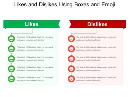 Likes And Dislikes Using Boxes And Emoji