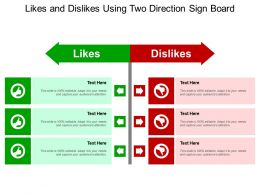 Likes And Dislikes Using Two Direction Sign Board