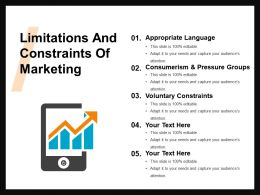 Limitations And Constraints Of Marketing Ppt Summary