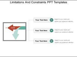 Limitations And Constraints Ppt Templates