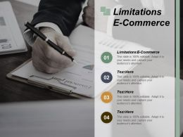 Limitations E Commerce Ppt Powerpoint Presentation File Slides Cpb