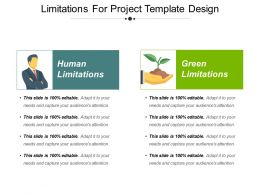 Limitations For Project Template Design Presentation Design