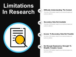 Limitations In Research Presentation Graphics
