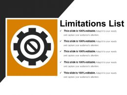 Limitations List Presentation Ideas Presentation Pictures