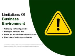 Limitations Of Business Environment Ppt Slide Styles