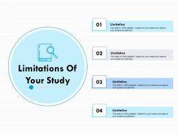 Limitations Of Your Study Ppt Powerpoint Presentation File Files