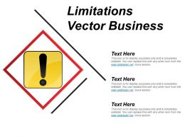 Limitations Vector Business Ppt Diagrams
