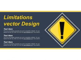 Limitations Vector Design Ppt Example