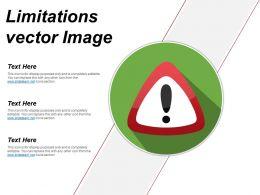 Limitations Vector Image Ppt Infographics