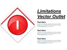 Limitations Vector Outlet Ppt Inspiration