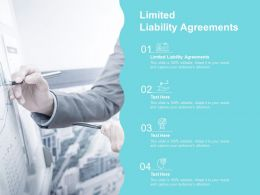 Limited Liability Agreements Ppt Powerpoint Presentation Styles Layout Cpb