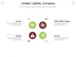 Limited Liability Company Ppt Powerpoint Presentation Infographic Template Vector Cpb