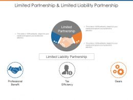 Limited Partnership And Limited Liability Partnership Powerpoint Guide