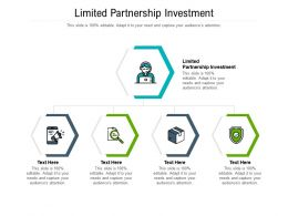 Limited Partnership Investment Ppt Powerpoint Presentation Styles Template Cpb