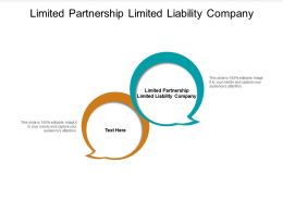 Limited Partnership Limited Liability Company Ppt Powerpoint Presentation Portfolio Gridlines Cpb