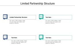Limited Partnership Structure Ppt Powerpoint Presentation Portfolio Structure Cpb