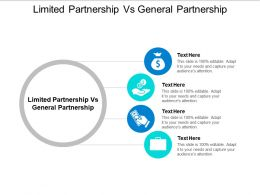 Limited Partnership Vs General Partnership Ppt Powerpoint Presentation Infographic Template Graphics Download Cpb