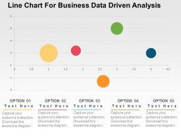 Line Chart For Business Data Driven Analysis Powerpoint Slides