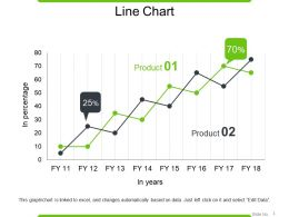 Line Chart Powerpoint Slide Clipart