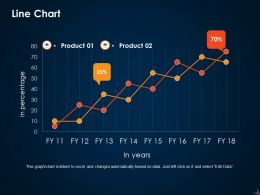 Line Chart Ppt Icon Graphics