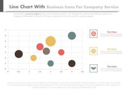 Line Chart With Business Icons For Company Services Flat Powerpoint Design