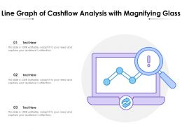 Line Graph Of Cashflow Analysis With Magnifying Glass
