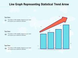 Line Graph Representing Statistical Trend Arrow