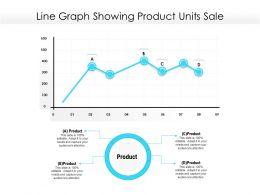 Line Graph Showing Product Units Sale