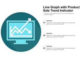 Line Graph With Product Sale Trend Indicator