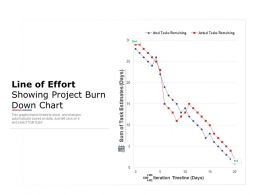 Line Of Effort Showing Project Burn Down Chart
