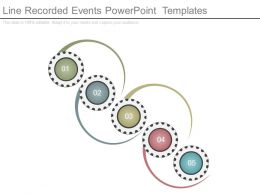 Line Recorded Events Powerpoint Templates