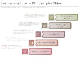 Line Recorded Events Ppt Examples Slides