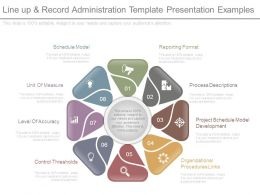 Line Up And Record Administration Template Presentation Examples